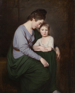 Mrs Wilson and child by George Romney