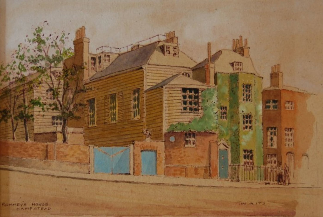 George Romney, house and studio, Hampstead
